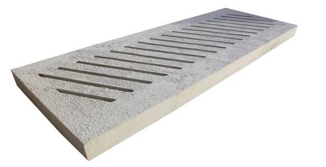 Diagonal Concrete Slats